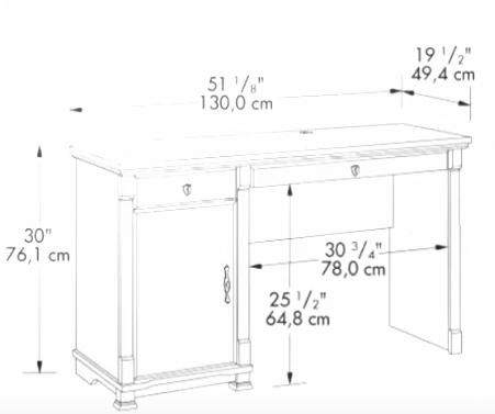 dimenzije pisalne mize